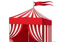 Vector circus or carnival tent