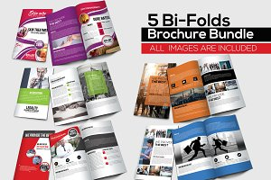 5 Bi Fold Brochure Bundle
