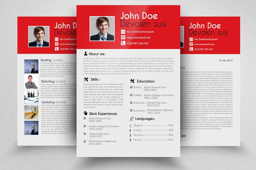4 Page Resume Portfolio Cover Letter
