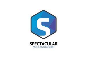 Hexagon Spectacular Logo - Letter S