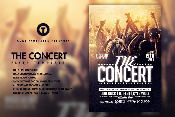The Concert Band Flyer Template Flyer Templates Creative Market