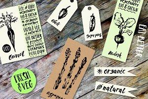Ink sketch vegetables