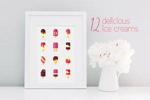 12 Delicious ice creams