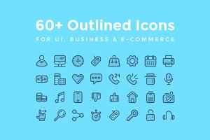 60+ Outlined Icons