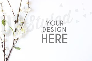 A185 Blossom Stock Photo Mock Up