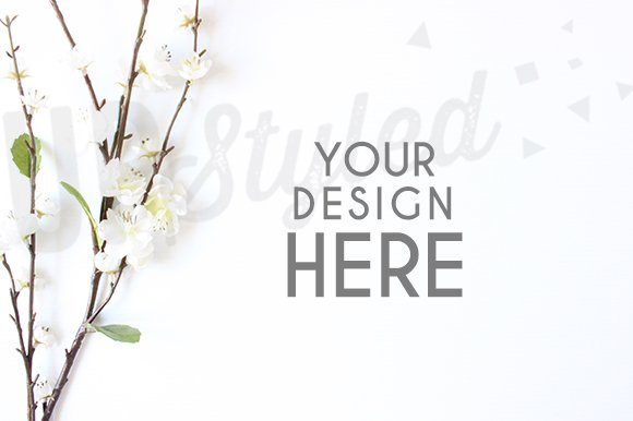 A185 Blossom Stock Photo Mock Up in Product Mockups