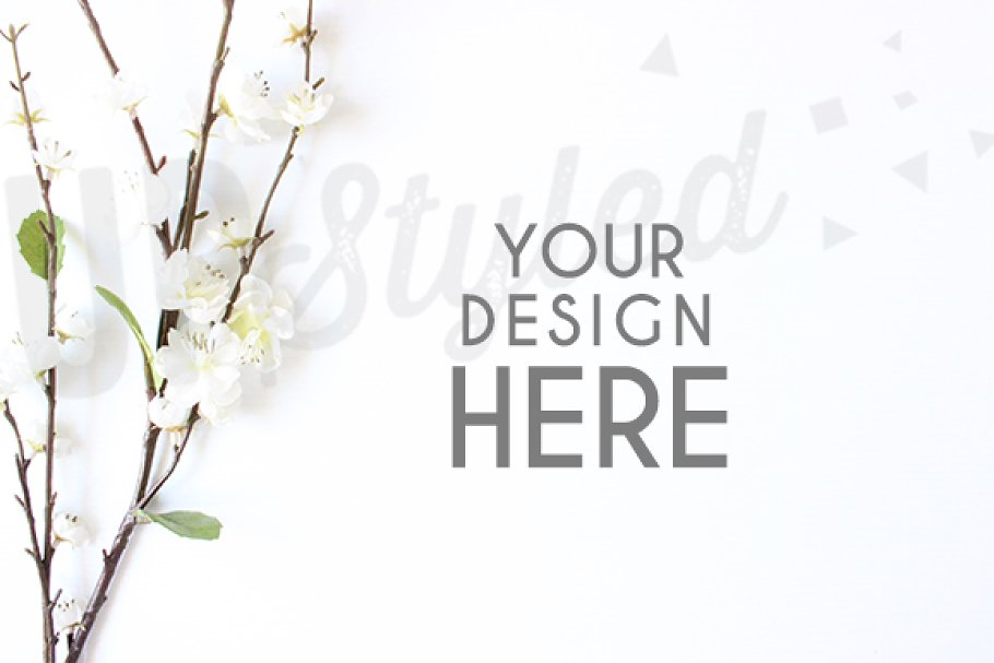 A185 Blossom Stock Photo Mock Up in Product Mockups - product preview 8