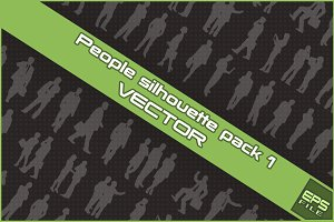 People silhouette VECTOR pack 1