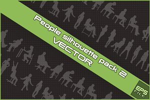 People silhouette VECTOR pack 2