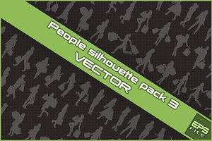 People silhouette VECTOR pack 3