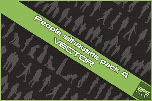 People silhouette VECTOR pack 4