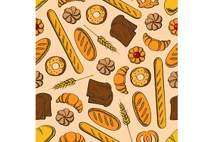 Bread and bakery pattern