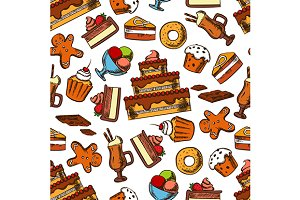 Cakes and cupcakes pattern