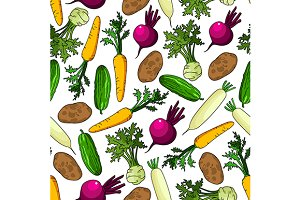 Healthy fresh vegetables pattern