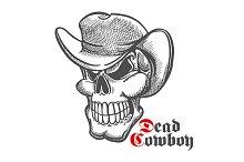 Dead cowboy sketch