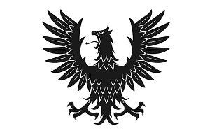 Heraldic medieval eagle