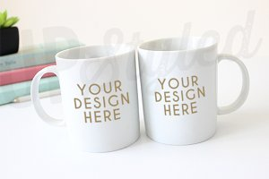 F193 Two Mugs Styled Mock Up