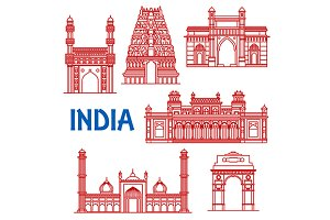 Indian travel landmarks