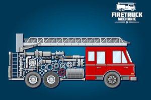 Fire truck mechanics scheme