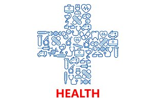 Medical hospital cross symbol