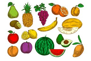 Sweet flavorful tropical fruits