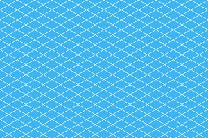 White isometric grid on cyan