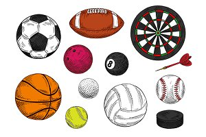 Sketched sport items