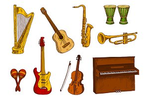 Sketched musical instruments