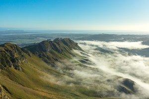 Morning fog on Te Mata Peak, NZ