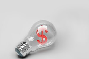 Light bulb  idea of business
