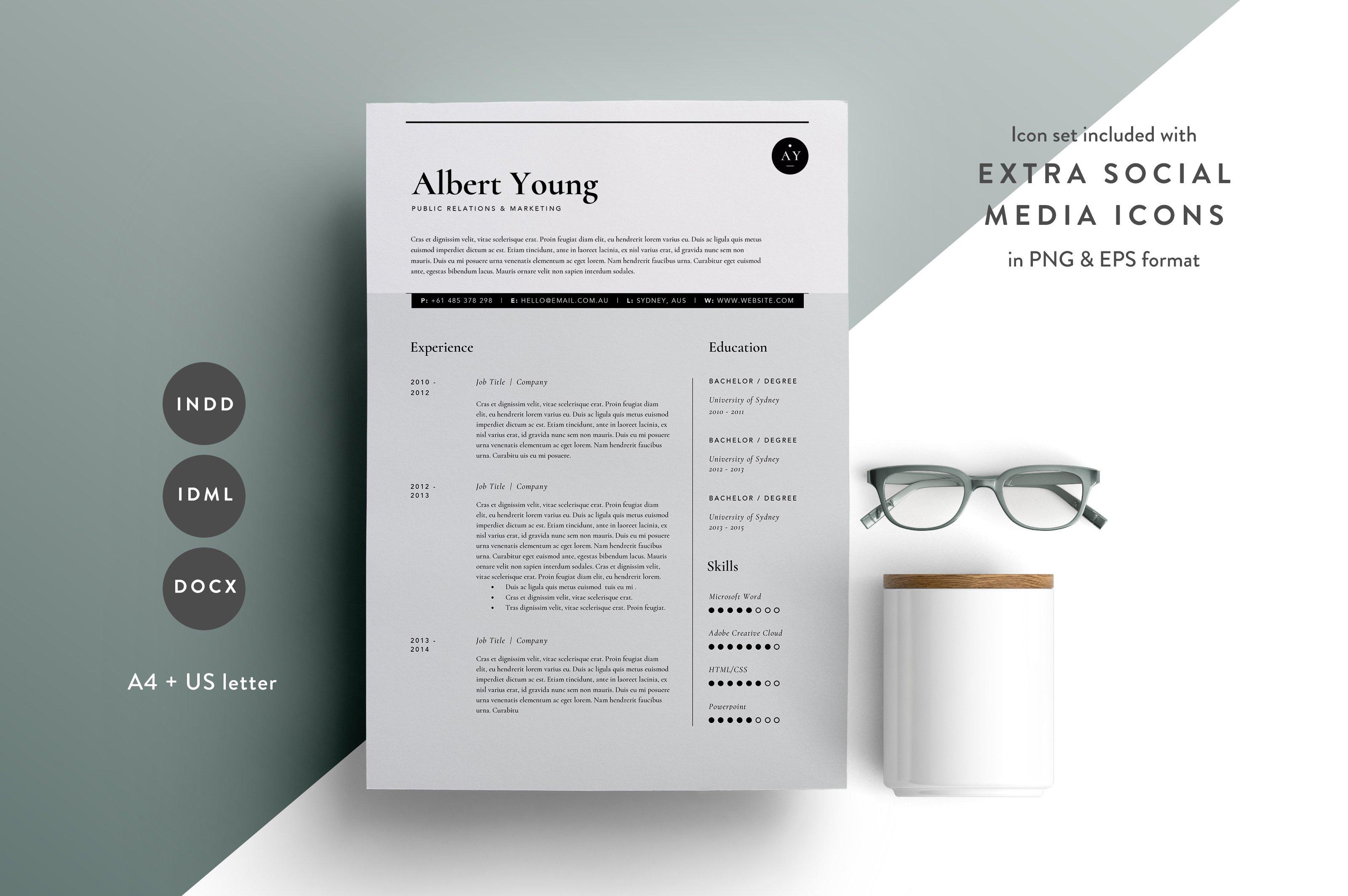 Resume Template 4 Page | CV Template ~ Resume Templates ~ Creative ...