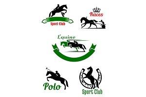 Equestrian sport symbols