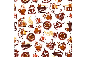 Coffee pots and grinders pattern