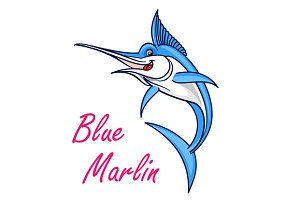 Atlantic blue marlin fish