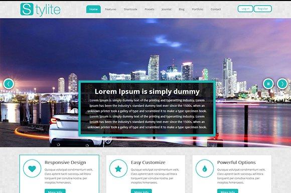 Ps Stylite Bootstrap Joomla Template Joomla Themes Creative Market