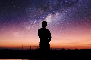 shadow man with interstellar