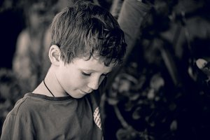 Thoughtful boy 7yrs