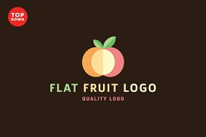 Flat Fruit Logo