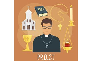Catholic priest profession icons