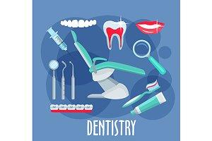 Dentistry medicine icons