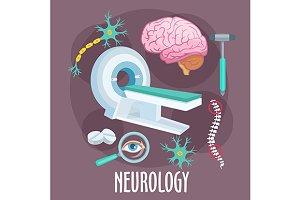 Neurology profession icons