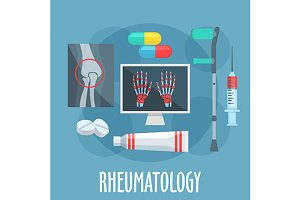 Rheumatology profession icons