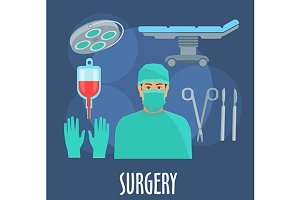 Surgery profession icons