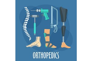 Orthopedics icons set