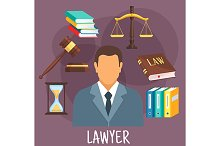 Lawyer profession icons