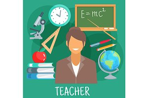 Teacher profession icons