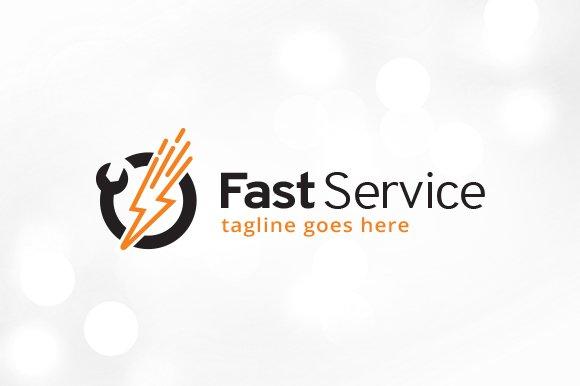 Fast Service Logo Template ~ Logo Templates ~ Creative Market