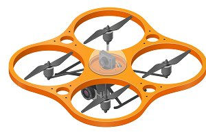 Remote aerial drone with a camera