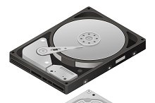 Hard disk HDD isometric