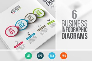 Business infographic diagrams v.10